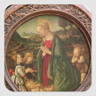 The Virgin Adoring the Christ Child Stickers