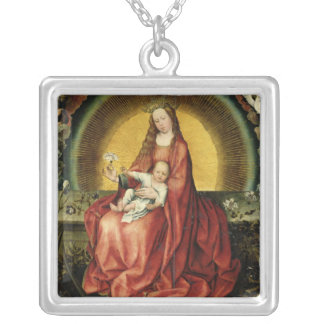 The Virgin and Child 2 Silver Plated Necklace