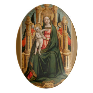 """""""The Virgin and Child"""" art porcelain platter"""