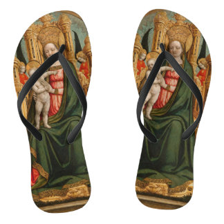"""The Virgin and Child"" art sandals"