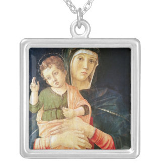 The Virgin and Child Blessing, 1460-70 Silver Plated Necklace