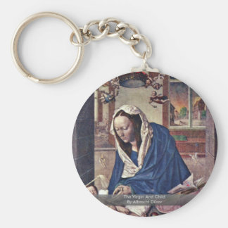 The Virgin And Child By Albrecht Dürer Basic Round Button Key Ring