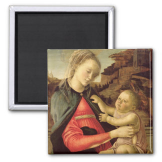 The Virgin and Child  c.1465-70 Square Magnet