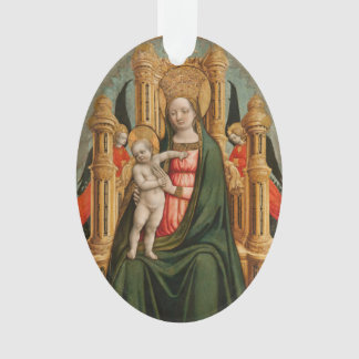 """The Virgin and Child"" custom ornament"