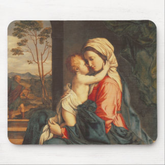 The Virgin and Child Embracing Mouse Pad