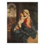 The Virgin and Child Embracing Poster