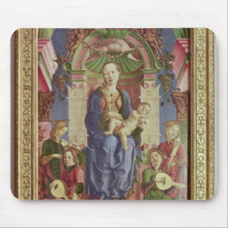 The Virgin and Child Enthroned, mid 1470s Mouse Mat