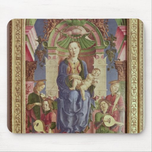 The Virgin and Child Enthroned, mid 1470s Mousepads