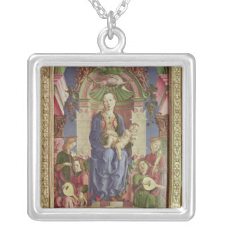 The Virgin and Child Enthroned, mid 1470s Silver Plated Necklace