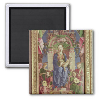 The Virgin and Child Enthroned, mid 1470s Square Magnet