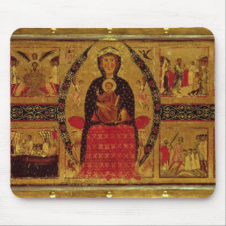 The Virgin and Child Enthroned Mouse Mat