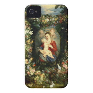 The Virgin and child in a garland of fruit and flo iPhone 4 Case-Mate Cases