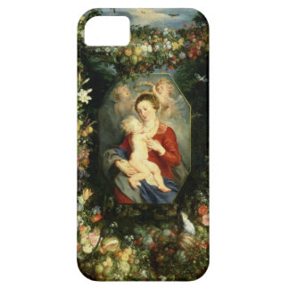 The Virgin and child in a garland of fruit and flo iPhone 5 Case