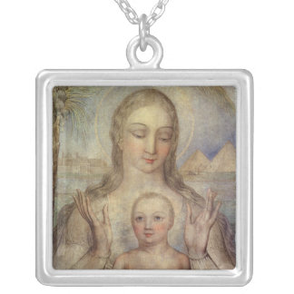 The Virgin and Child in Egypt, 1810 Silver Plated Necklace
