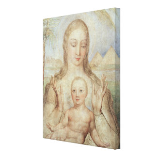 The Virgin and Child in Egypt, 1810 (tempera on pa Canvas Print