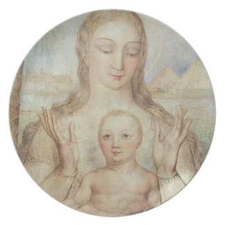 The Virgin and Child in Egypt, 1810 (tempera on pa Plate