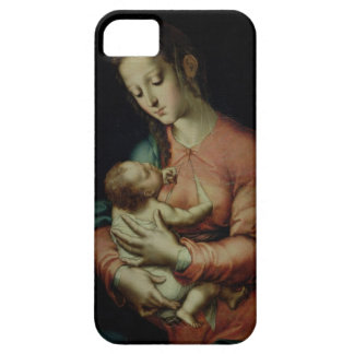 The Virgin and Child (oil on panel) iPhone 5 Cases
