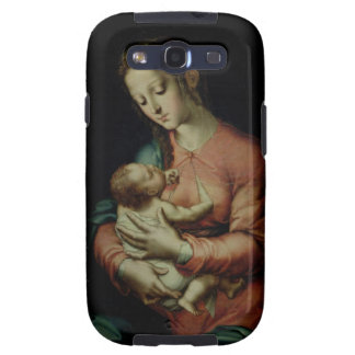 The Virgin and Child (oil on panel) Samsung Galaxy S3 Covers