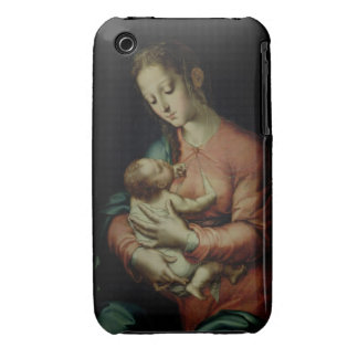 The Virgin and Child (oil on panel) Case-Mate iPhone 3 Cases
