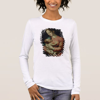 The Virgin and Child (oil on panel) Long Sleeve T-Shirt