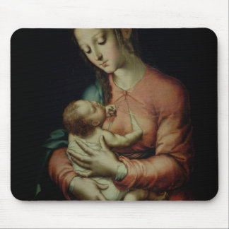 The Virgin and Child (oil on panel) Mouse Pad