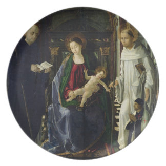 The Virgin and Child (oil) Plate