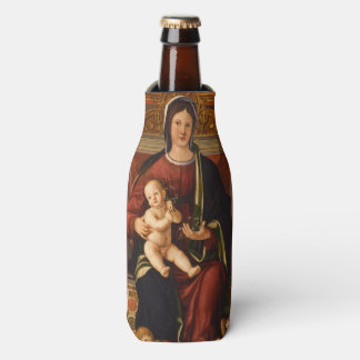 """The Virgin and Child"" religious art bottle cooler"