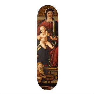 """The Virgin and Child"" religious art skateboards"