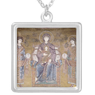 The Virgin and Child Silver Plated Necklace