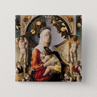 The Virgin and Child Surrounded by Eight 15 Cm Square Badge