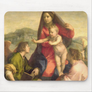 The Virgin and Child with a Saint and an Angel, c. Mouse Pad