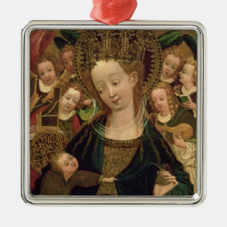 The Virgin and Child with Angels Christmas Ornament