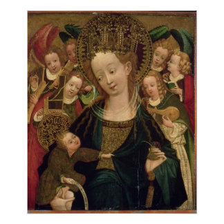 The Virgin and Child with Angels Poster