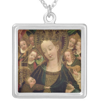 The Virgin and Child with Angels Silver Plated Necklace