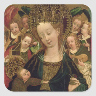 The Virgin and Child with Angels Square Sticker