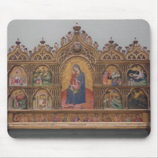 The Virgin and Child with Legendary Scenes Mouse Pad