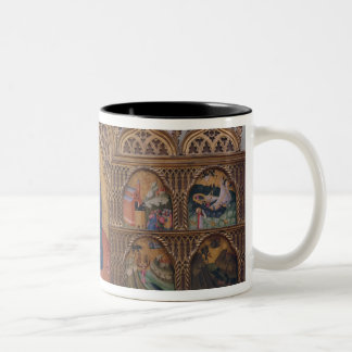 The Virgin and Child with Legendary Scenes Two-Tone Coffee Mug
