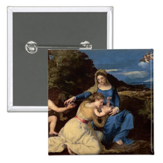 The Virgin and Child with Saints, 1532 15 Cm Square Badge