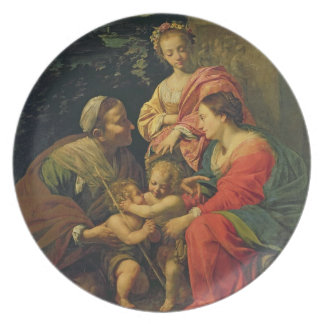 The Virgin and Child with St. Elizabeth, the Infan Dinner Plates