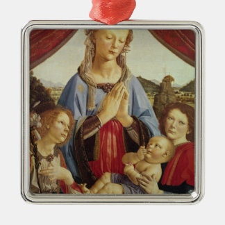 The Virgin and Child with Two Angels, c.1470's Christmas Ornament