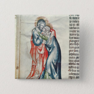 The Virgin and Christ, from the Passion of 15 Cm Square Badge