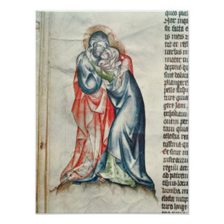 The Virgin and Christ, from the Passion of Poster
