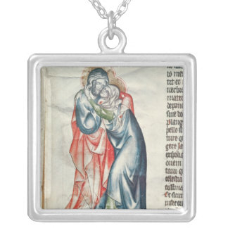 The Virgin and Christ, from the Passion of Silver Plated Necklace