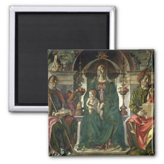 The Virgin and Saints, 1474 Square Magnet
