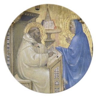 The Virgin appearing to St. Bernard, detail from a Plates