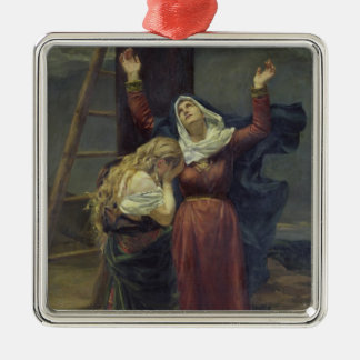 The Virgin at the Foot of the Cross Christmas Ornament