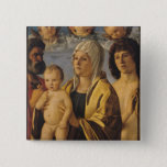 The Virgin & Child with St. Peter & St. 15 Cm Square Badge