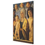 The Virgin & Child with St. Peter & St. Canvas Print