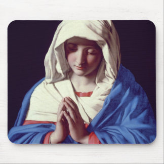 The Virgin in Prayer, 1640-50 (oil on canvas) Mouse Mat