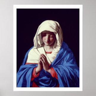 The Virgin in Prayer, 1640-50 (oil on canvas) Poster